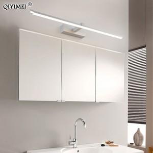 Image 4 - Led أضواء مرآة مصابيح الحائط الحمام مقاوم للماء أبيض أسود LED مصباح مسطح الحديثة داخلي الجدار مصباح الحمام الإضاءة يشكلون
