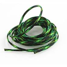 Изоляция плетеный кабель рукав 5 м 10 м 2 мм защитная трубка для провода плотный ПЭТ нейлон расширяемый плетеный кабель