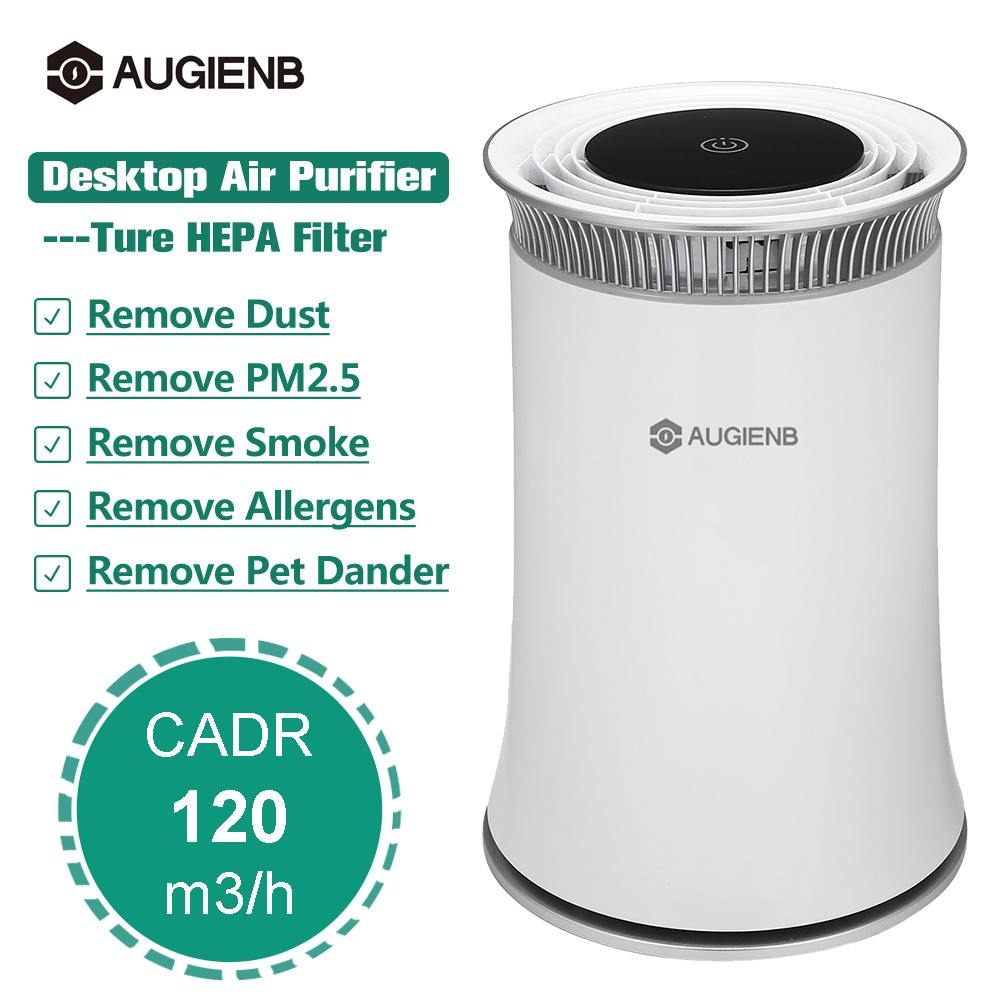Augienb Air Purifier Hepa Filter Negative Ion Odor