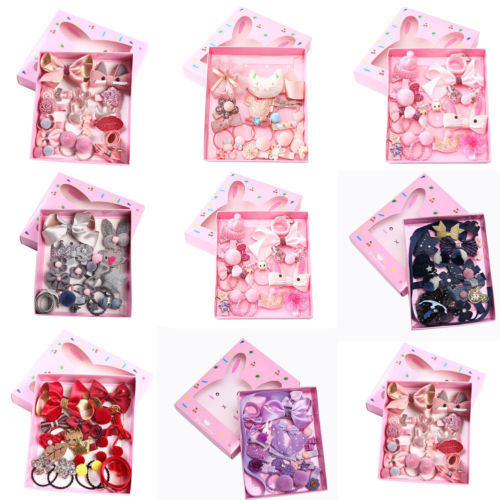 18Pcs Lot Mixed Kids Girls Cartoon Styles Headwear Hair Bands Princess Toddler Baby Girl Hair Pin Hair Clips Jewelry Accessories