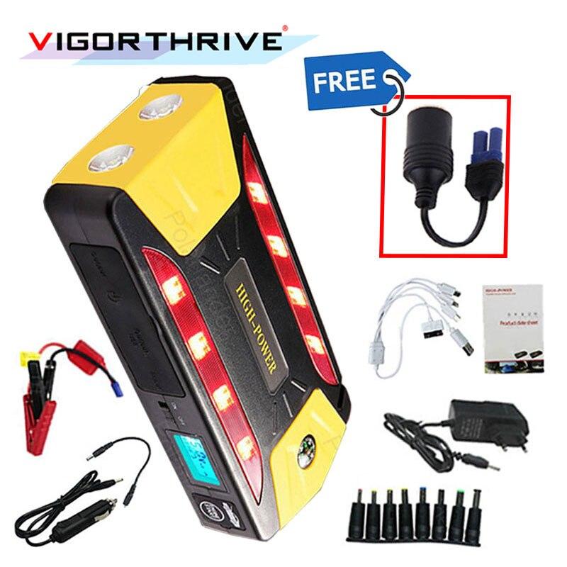 Mini batterie externe multifonctionnelle portative de vitesse de décharge de démarreur de saut de voiture de secours batterie externe automatique 12 V