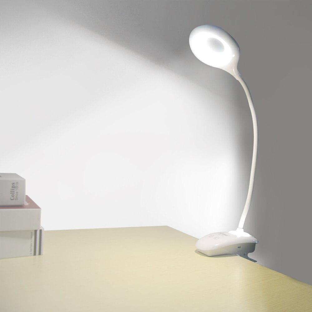 Clip para Led Flexible lámpara de escritorio con luz de noche ModernTouch interruptor regulador de batería recargable 18650 Luz de escritorio USB lámparas de mesa LED