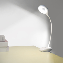 Led Clip Flexible Desk Lamp with Night Light ModernTouch Switch Dimmer Rechargeable 18650 Battery Desk Light USB LED Table Lamps