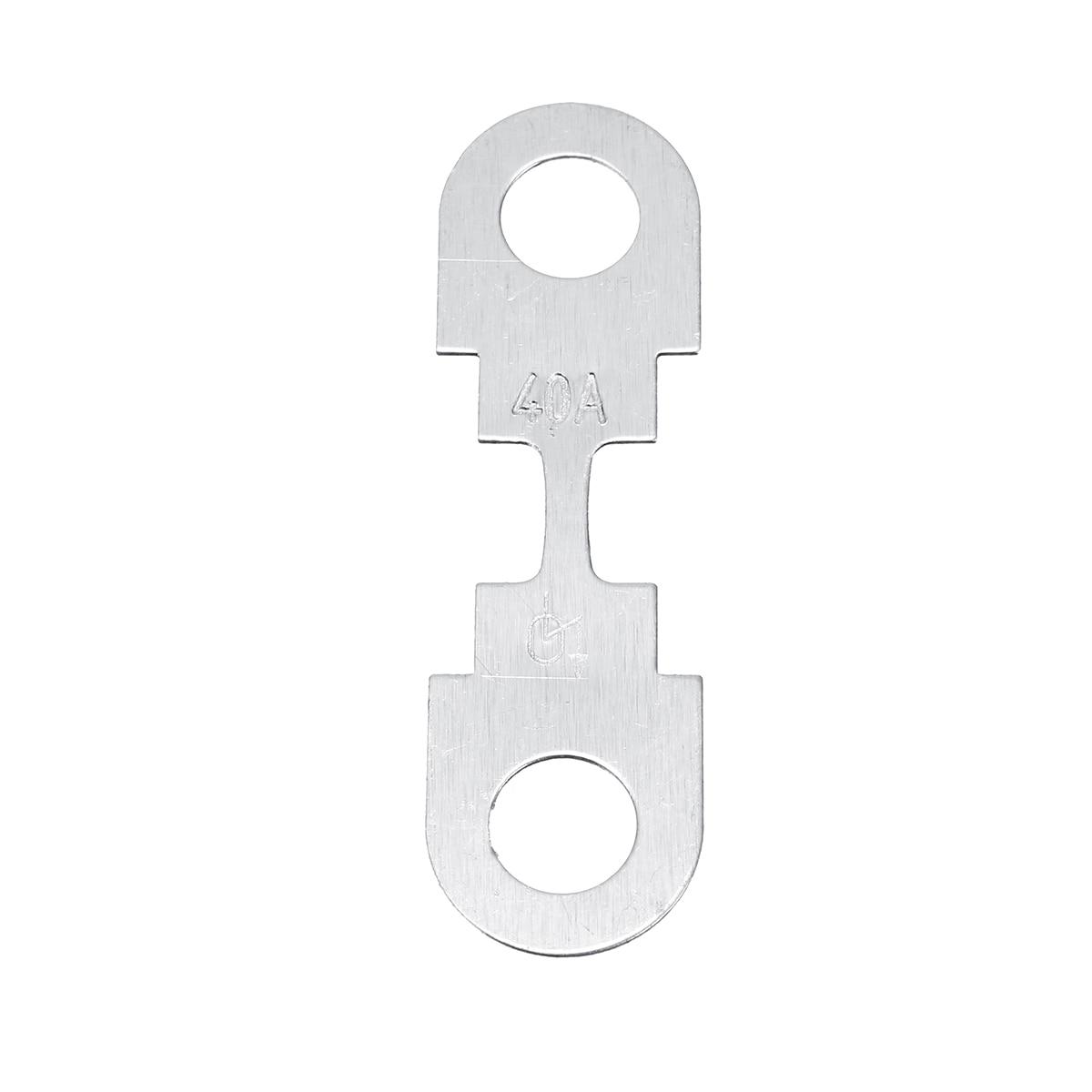 KANGIRU para el Coche Metal Silver Tone Fusibles universales Flat Fuse Strip DC 12V 40A 4Pcs