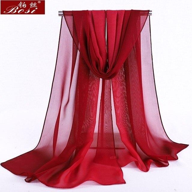 Chiffon scarf gradient women hijab winter brand autumn red long scarfs poncho luxury ladies scarves shawl sjaal long bohemian gg 3