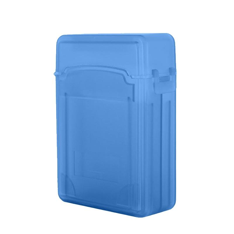 Intelligent 2,5-zoll Festplatte Schutz Box Festplatte Beschützer Doppel-schicht Festplatte Lagerung Box 3,5 Zoll Blau Kunststoff Box Externer Speicher