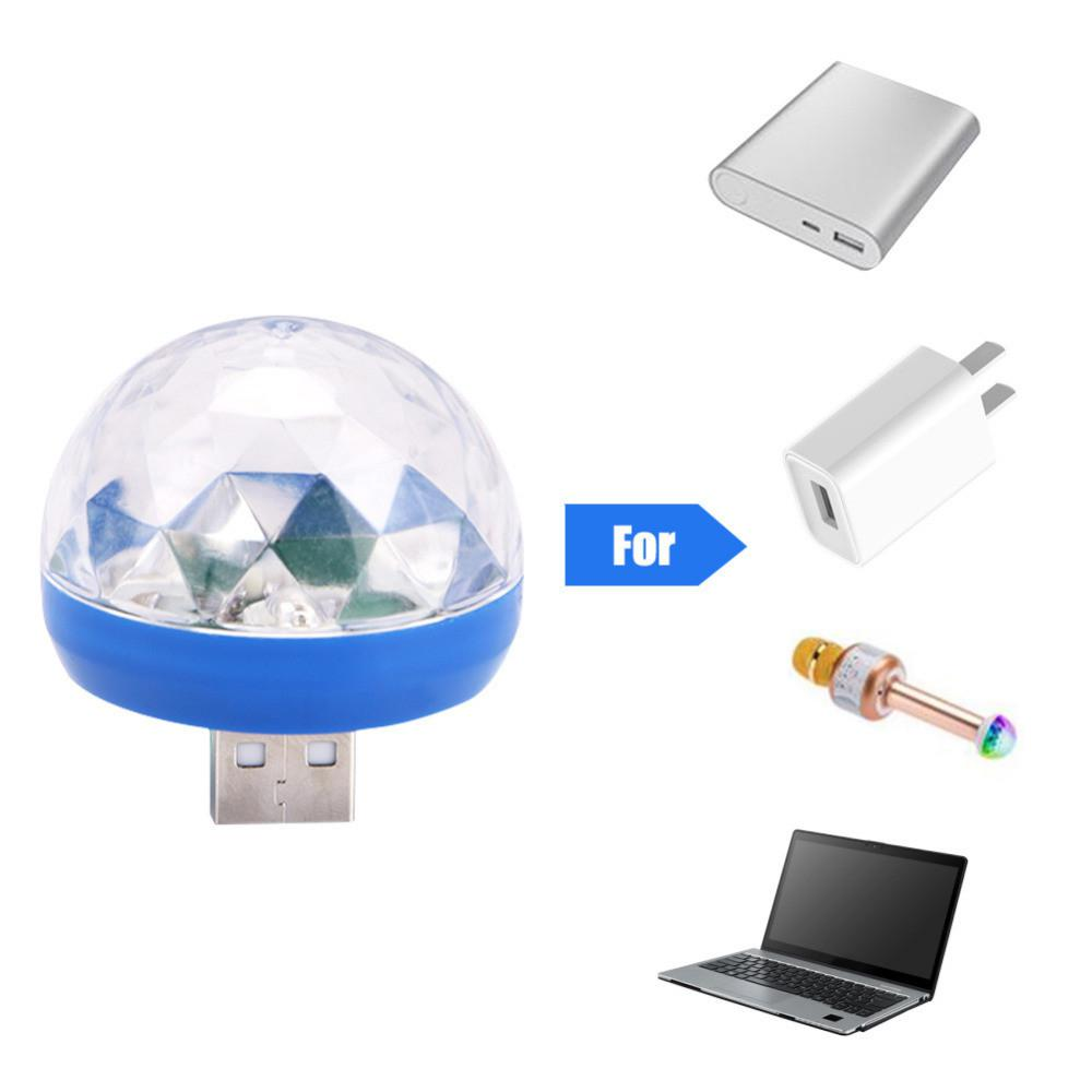 SOLLED LED Party Light Sound Control Crystal Magic Ball Stage Lamp with Adapter Music Stage Light LED Disco Light for iphone