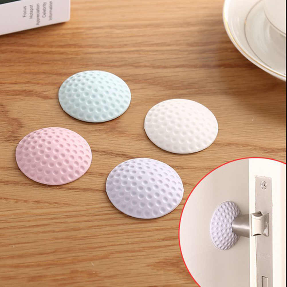 Furniture Crash Pad Door Doorknob Back Wall Protector Savor Shockproof Crash Pad Furniture Accessories (White)