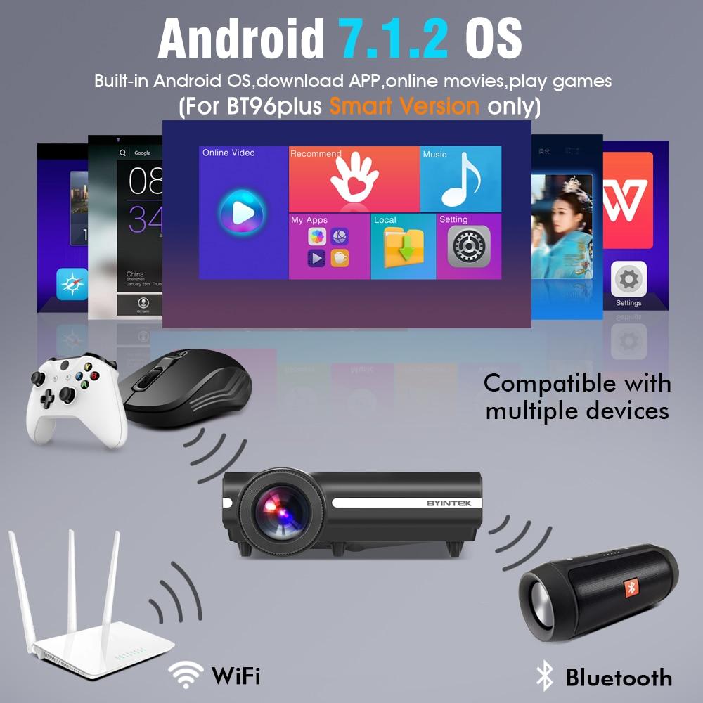BYINTEK MOON BT96Plus Hologram 200inch LED Video HD Projektor për - Audio dhe video në shtëpi - Foto 5