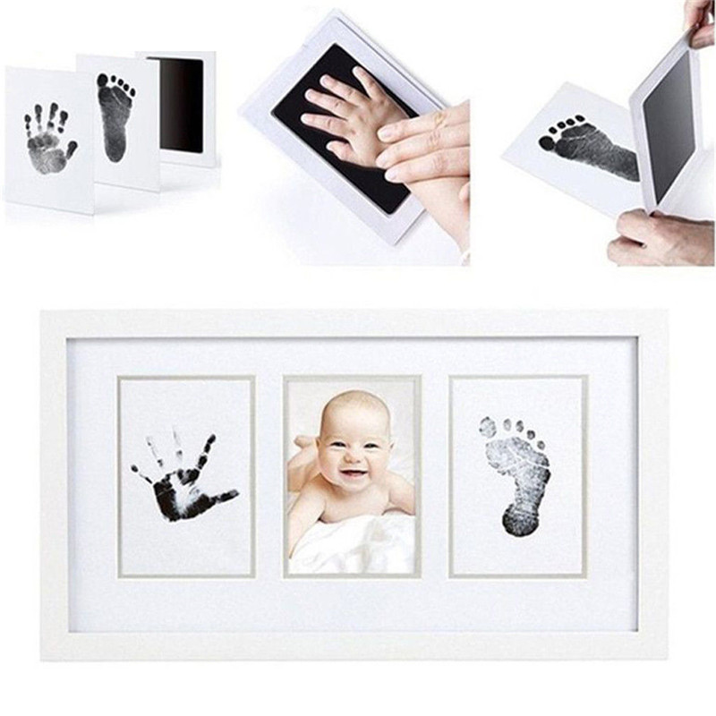 Baby Paw Print Pad Foot Print Photo Frame Pad Inkless Wipe Baby Kit-hand Foot Print Keepsake Newborn Footprint Handprint Hot