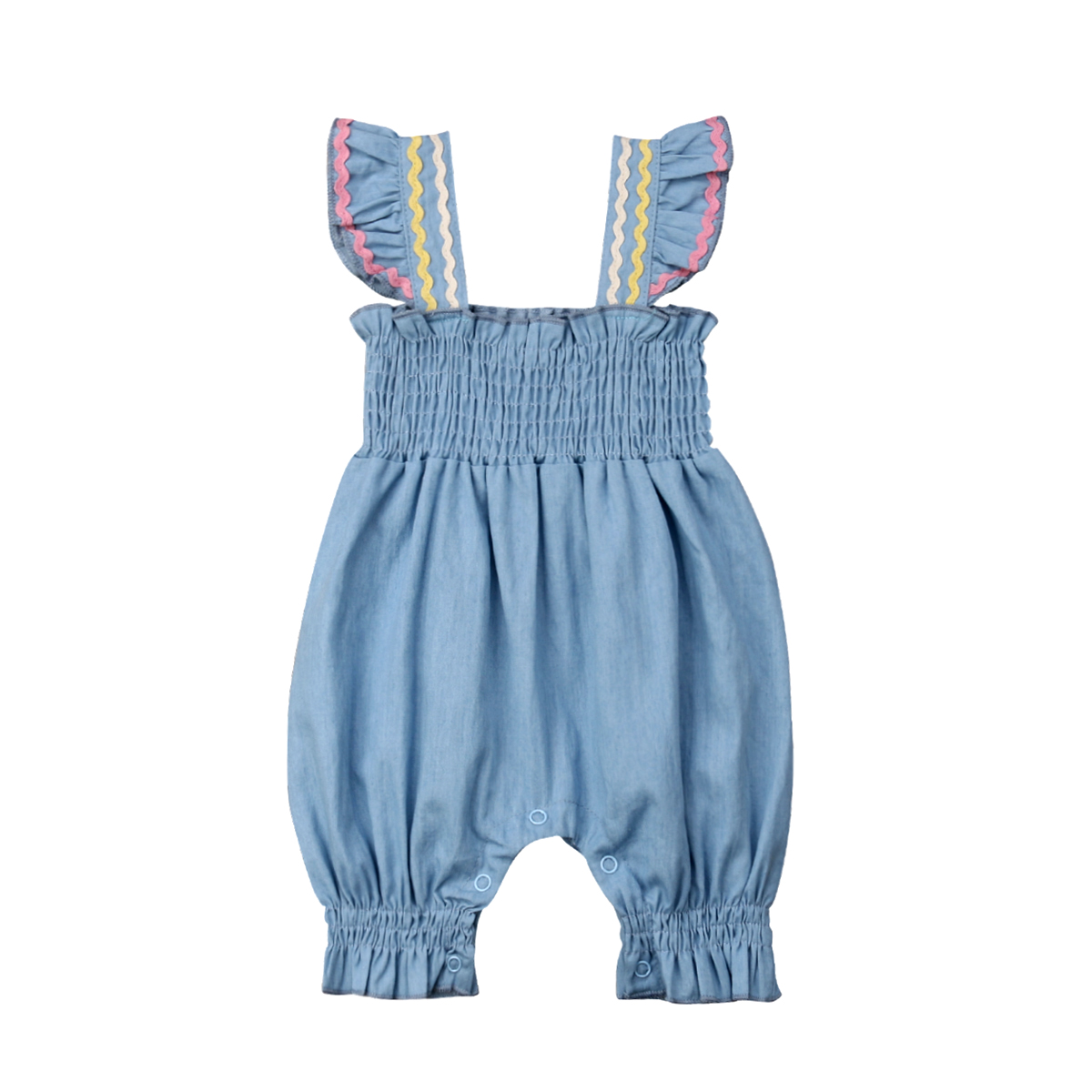 Summer 2019 Infant Newborn Baby Girls Clothing Ruffles Baby Girls   Romper   Jumpsuit Striped Bloomers Baby Girls Costumes