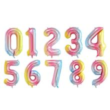40 Inch Birthday Number Balloon Durable And Reusable Helium Foil Mylar Digital Balloons Party Decorations Supplies