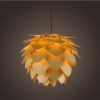 Modern Pendant Lights Pinecone Kitchen Lamp for Dinning Living Room Restaurant LED Loft Lighting Vintage Wood Lamp