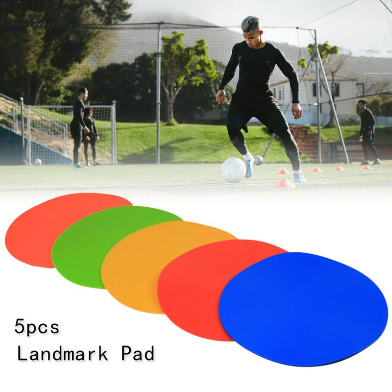 5PCS Soccer Ball Round Rubber Flat Cones Training Spot Markers Football Pitch Floor Discs For Sports Fitness Gym Accessories