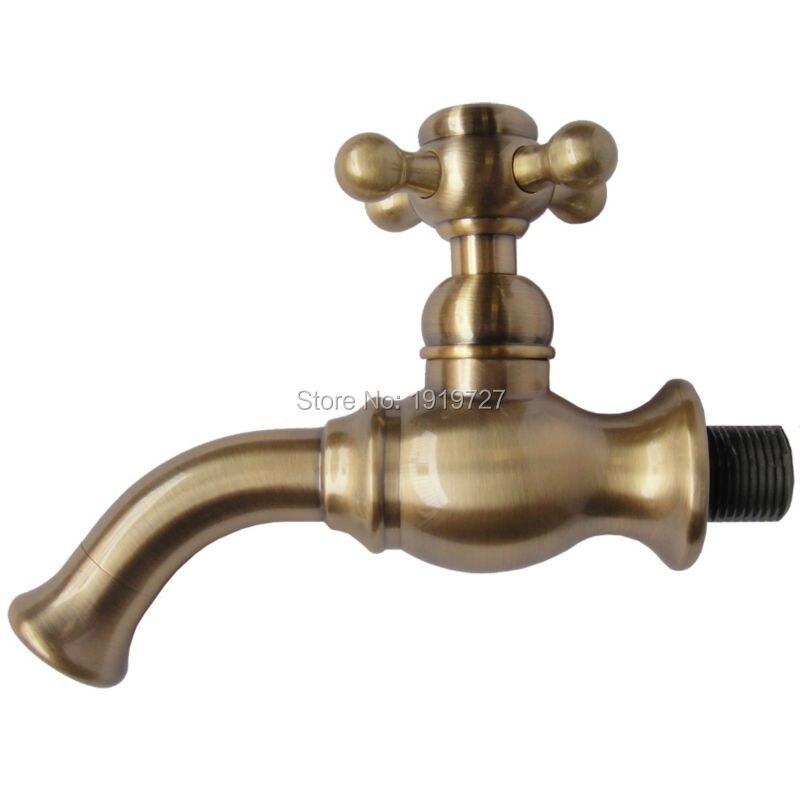 Nouveauté haute qualité économie d'eau 100% en laiton massif Bibcock bec de remplissage robinet seulement eau simple robinet froid avec poignée croisée