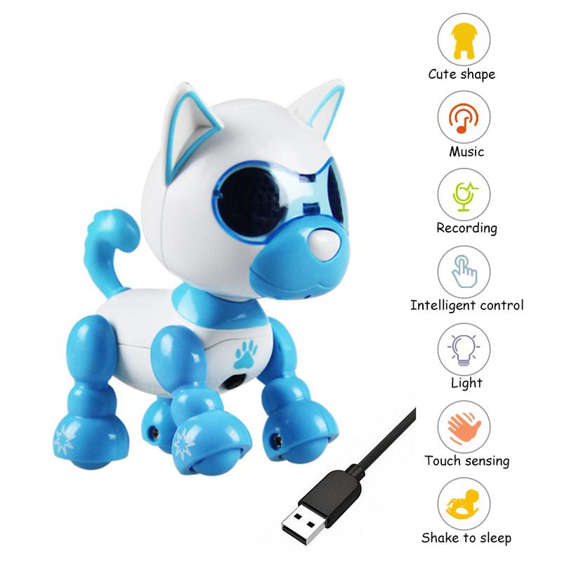 Robot Dog Toy Smart Pet Electronic Pet Dog Toys Children's Interactive Playmate Interesting For Children 4 Function USB