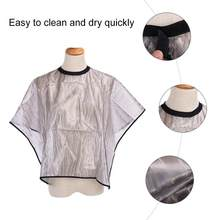 Hair Salon Cape Anti Static Anti-adhesive Waterproof Barber Shop Hairdressing Apron Perm Shawl Hair Coloring Styling Wrap(China)