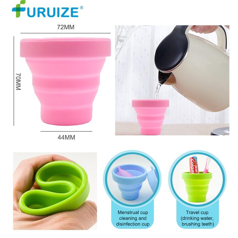 וסת מעקר גביע כוסות סיליקון מתקפל - בריאות