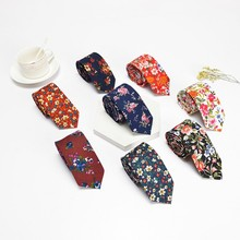 цена на Men Cotton Handkerchiefs Bowtie Tie Set Fashion Casual Floral Print Slim 6cm Neckties Wedding Suits Pocket Square & Bow Tie Sets