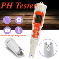 Digital PH Tester Meter Automatic Calibration Thermometer Kit LCD Display Portable Waterproof Pen Water Quality Analyse Test Pen