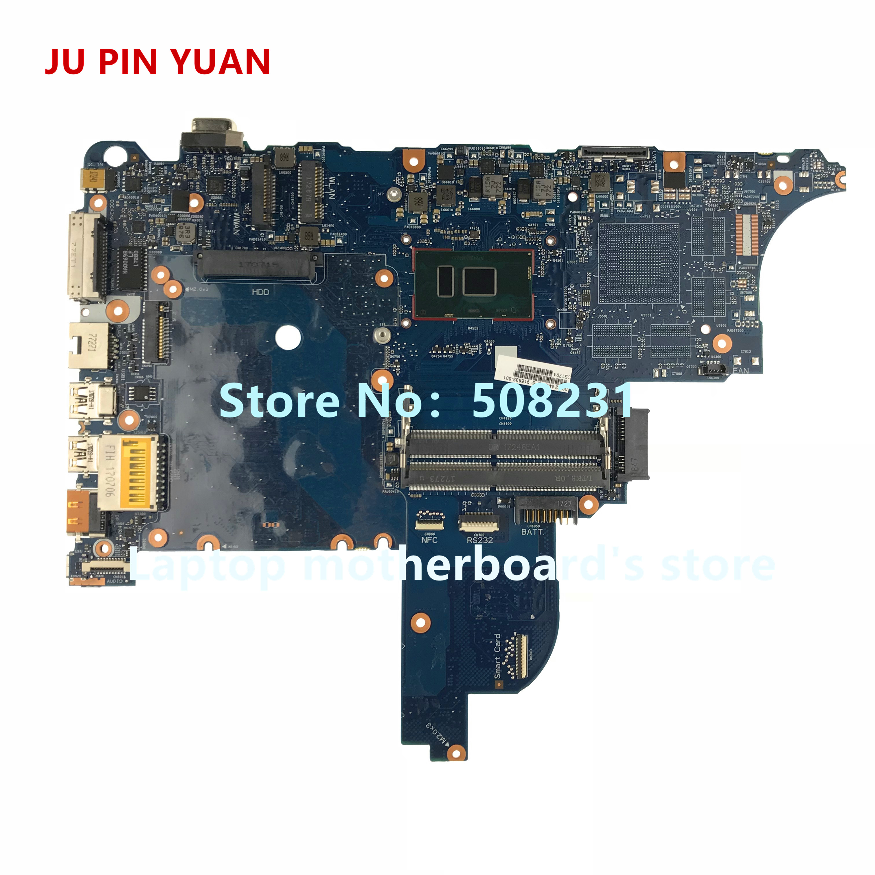 JU PIN YUAN 916833-601 916833-001 Laptop motherboard For HP ProBook 640 G3 <font><b>650</b></font> G3 Notebook PC <font><b>i5</b></font>-7200U fully Tested image