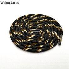 Weiou 6 мм круглые шнурки черные с цветными точками желтые шнурки унисекс полосатые шнурки для кроссовок Рождественская распродажа