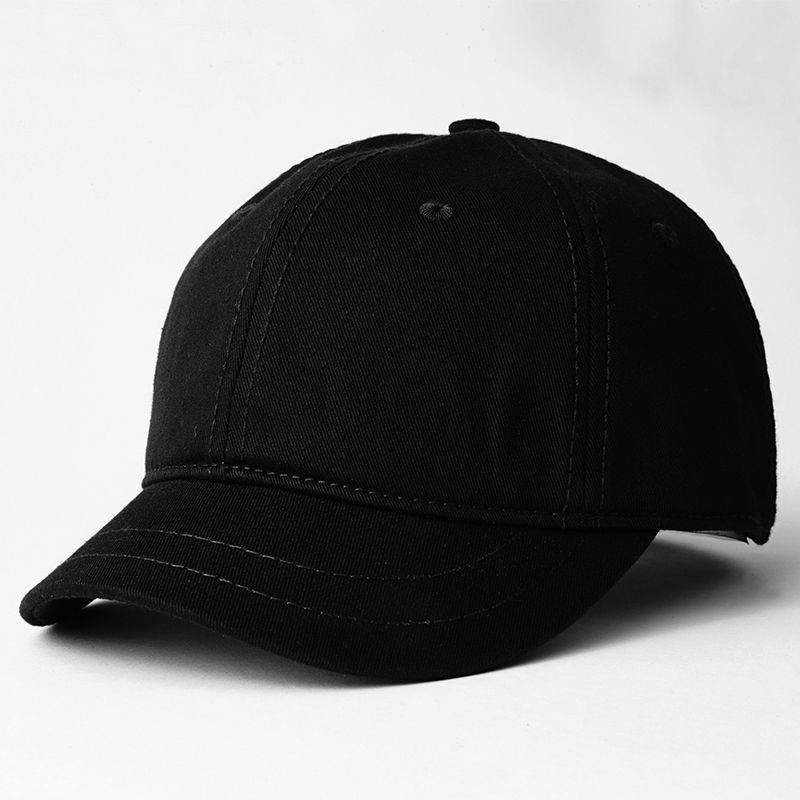 Short Brim   Baseball     Cap   Adult Summer Pure Cotton Sun Hats Big Head Men and Women Plus Size Snapback   Caps   56-65cm