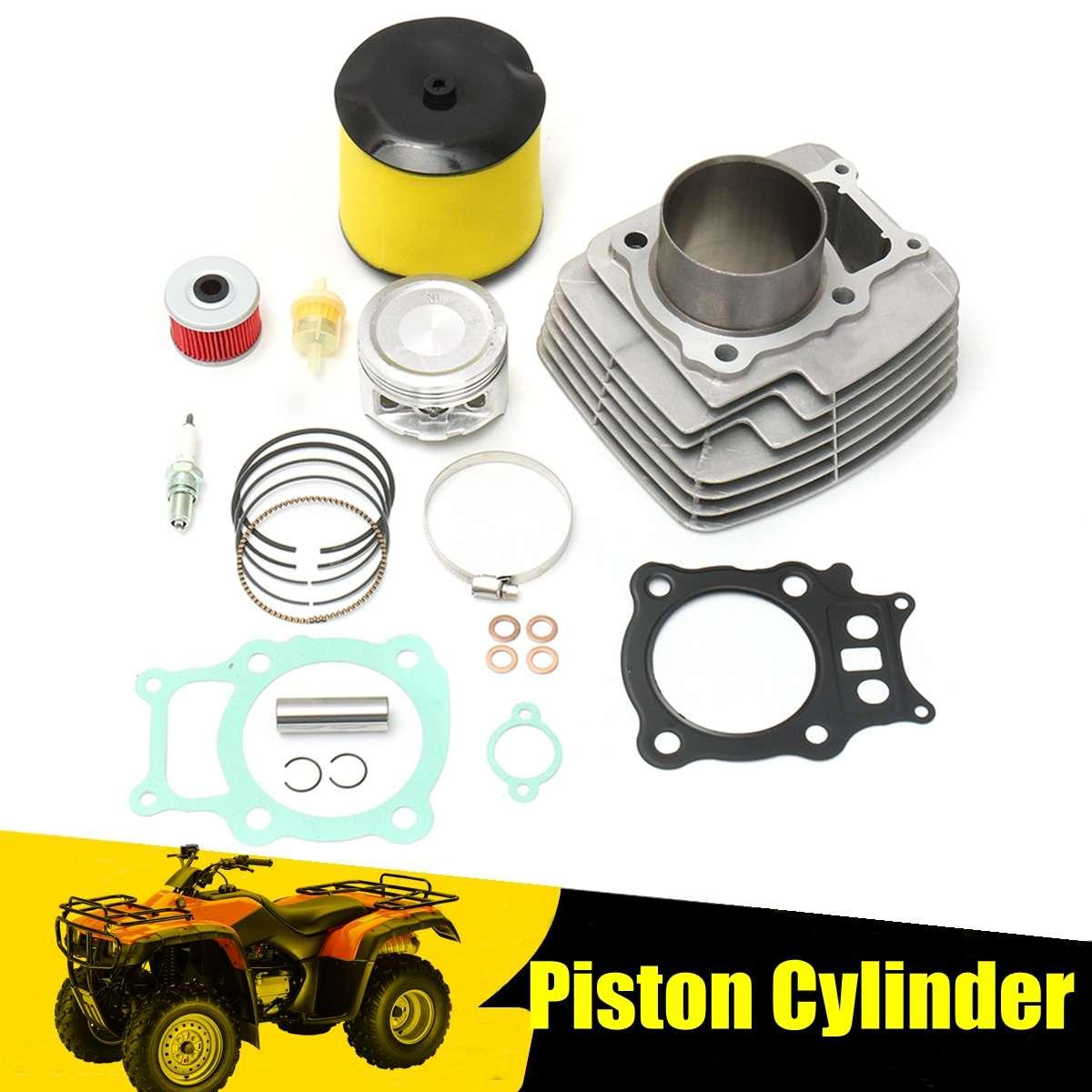 Cylinder Piston for Spark Plug Filter Gasket Rings For Honda Rancher TRX350 for TRX 350 2000