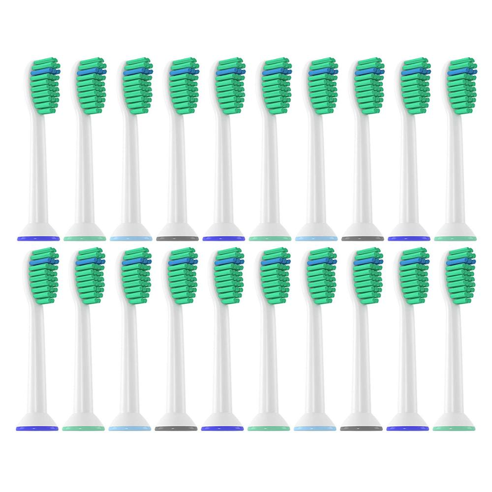 20pcs Pro Result HX6013 Generic Electric Sonic Replacement Brush Heads Fits For Philips Sonicare Toothbrush Heads Proresults image