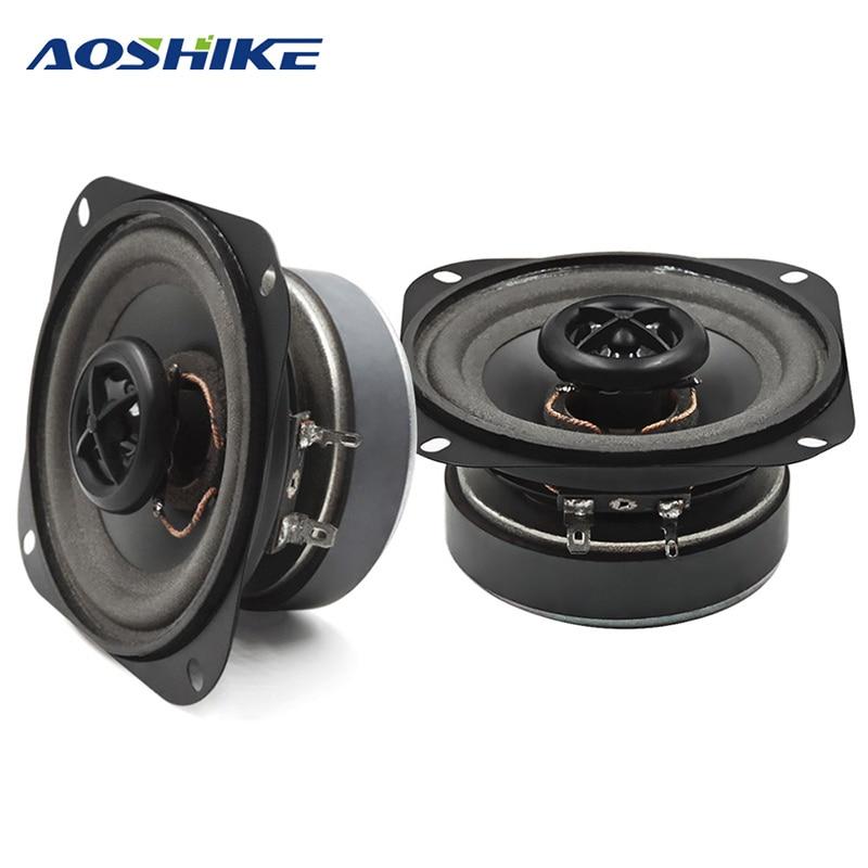 AOSHIKE 2Pcs 4Inch 4ohm 50W Audio Potable Music Speakers Coa