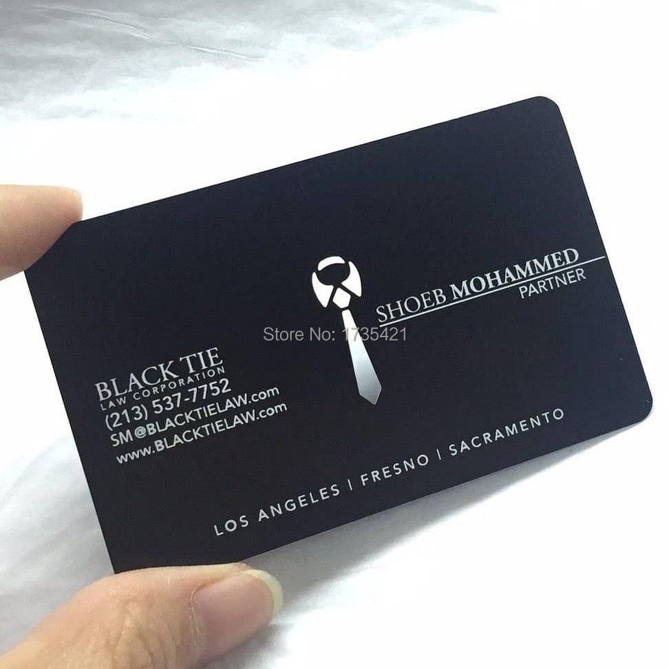 Steel Black Metal Custom Business Card