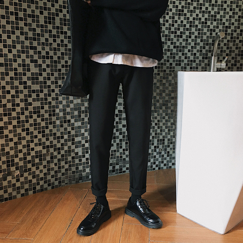 2019 Spring And Summer New Trend Korean Version Of The Couple Fashion Nine Points Straight Loose Casual Sweatpants Joggers Best