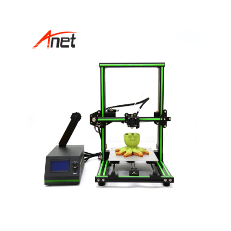 High Precision 3d Printer Large Printing Size 220 270 300mm Anet E10 Semi Assembled Aluminum Frame