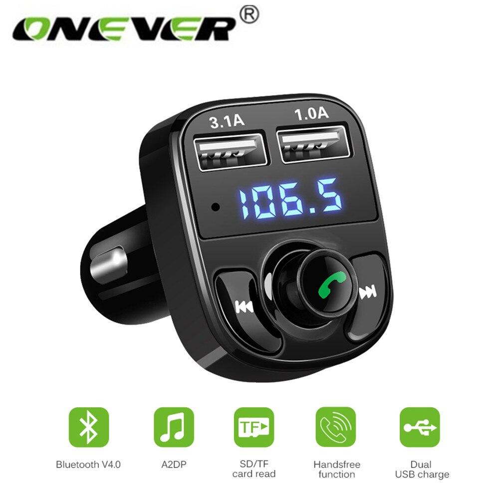 Unterhaltungselektronik Tragbares Audio & Video Auto Audio Mp3 Player Mit Smart Ladung Fm Transmitter Aux Modulator Bluetooth Car Kit Usb Auto Ladegerät # E03