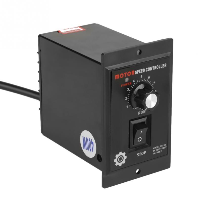 Controlador de velocidad del Motor 400W AC 220V controlador regulador de velocidad del Motor hacia adelante y hacia atrás