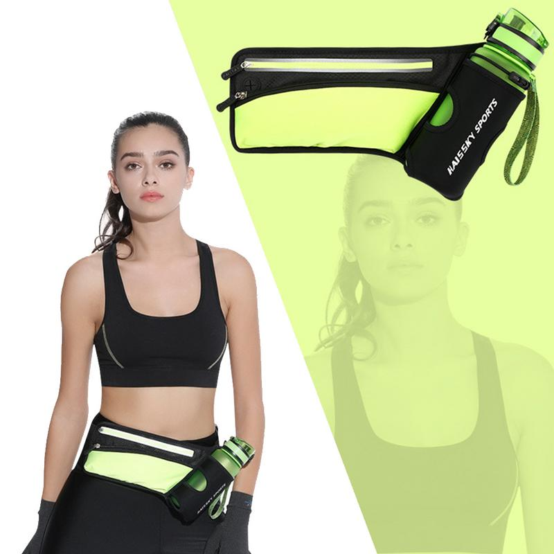 Symbol Of The Brand Running Waist Bags Travel Fanny Belt With Water Bottle Holder Multifunction Adjustable Sports Pack Running Belt For Iphone Home