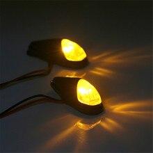 цена на 12V 5W Motorcycle LED Turn Signal Indicator Light Amber Lamp Plastic Bike Lamp Lights 1 Pair