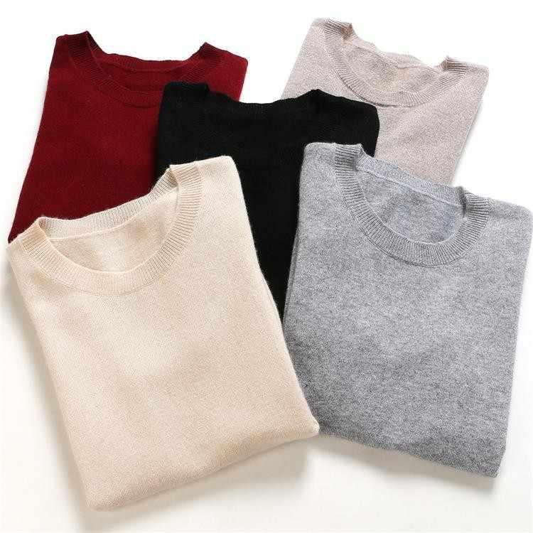 Multi-สีเพิ่มเติมรหัสเสื้อแขนสั้นหญิง 2019 ฤดูใบไม้ผลิฤดูร้อนสไตล์ใหม่รอบคอ Slim-Fit เสื้อกันหนาวสีทึบ
