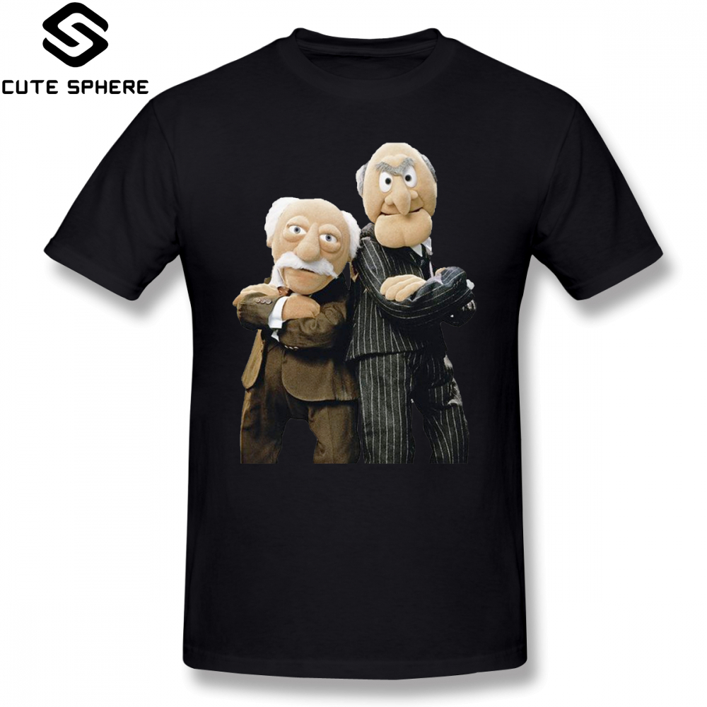 Muppets   T     Shirt   Statler And Waldorf   T  -  Shirt   Fashion Short Sleeves Tee   Shirt   Mens Printed 100 Percent Cotton Plus size Tshirt