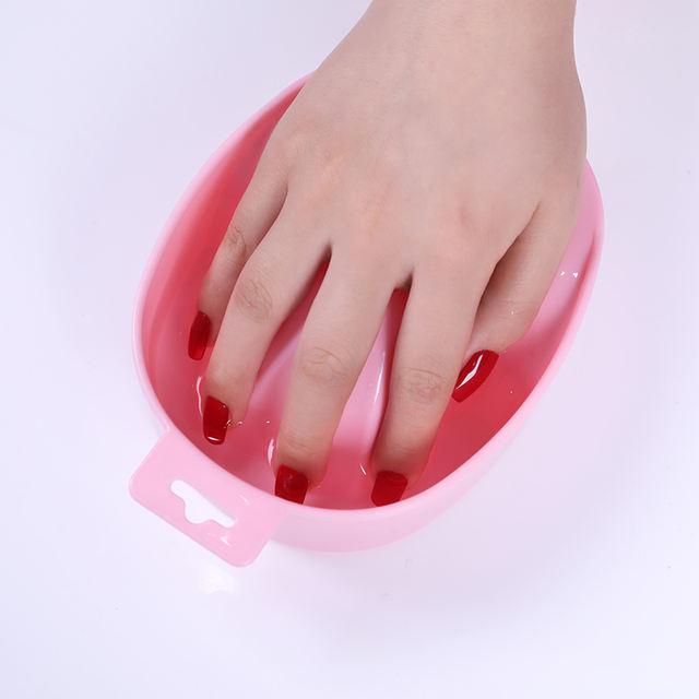 Nail Art Soak Bowl Hand Wash Remover Nail Soaked Treatment Remover Bowl Nail Spa Bath Manicure Tool Random Color