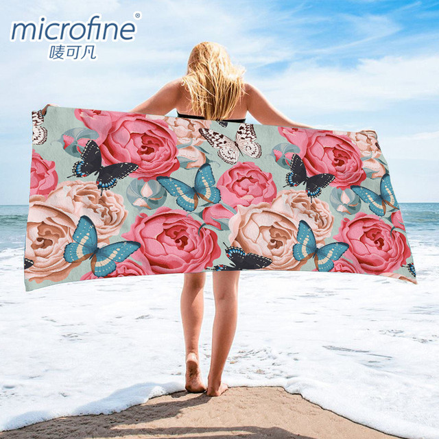 Microfine Microfiber Beach Towel Machine Quick Dry Adult Bath Towel Gym Sport Hiking Yoga Mat Large Blanket Travel Camping 1