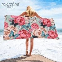 Microfine, микрофибра, пляжный диспенсер полотенец, быстросохнущее полотенце для взрослых, банное полотенце для занятий спортом, пешего туризма...