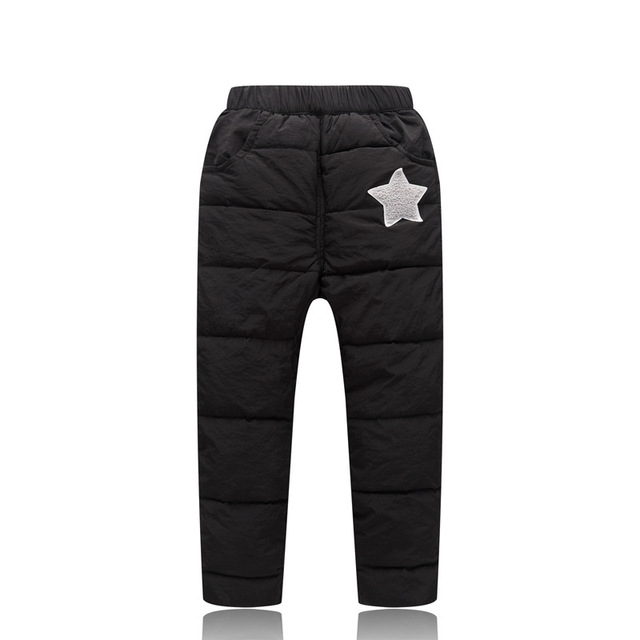 Children Winter Pants Baby Boys Down Pant Baby High Waist Thick Trousers 1-5 Kids Winter Warm Long-pants Girls Thicken Clothes