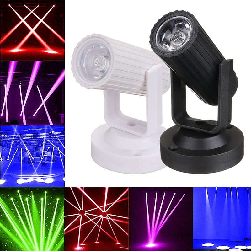 Super Mini LED Beam Spotlight  Light 3W AC110-220V For DJ Disco Bar KTV Party  Lighting Effect RGB/Blue/Red/White New