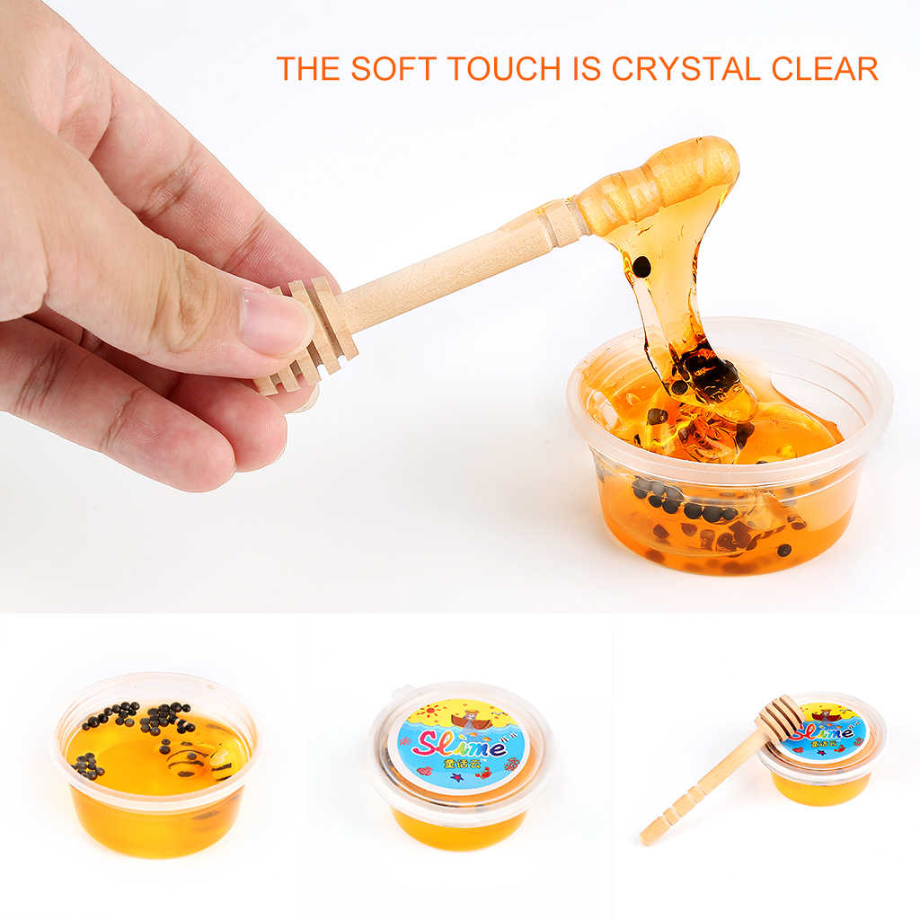 Hot Sale Crystal Slime Toys Clear Honey slime Bee Polymer Clay Modeling Slime Lizun Glue mud slime Putty DIY Toy Antistress Mud