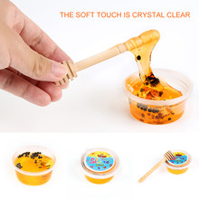 Hot Sale Crystal Slime Toys Clear Honey slime Bee Polymer Clay Modeling Slime Lizun Glue mud slime Putty DIY Toy Antistress Mud(China)