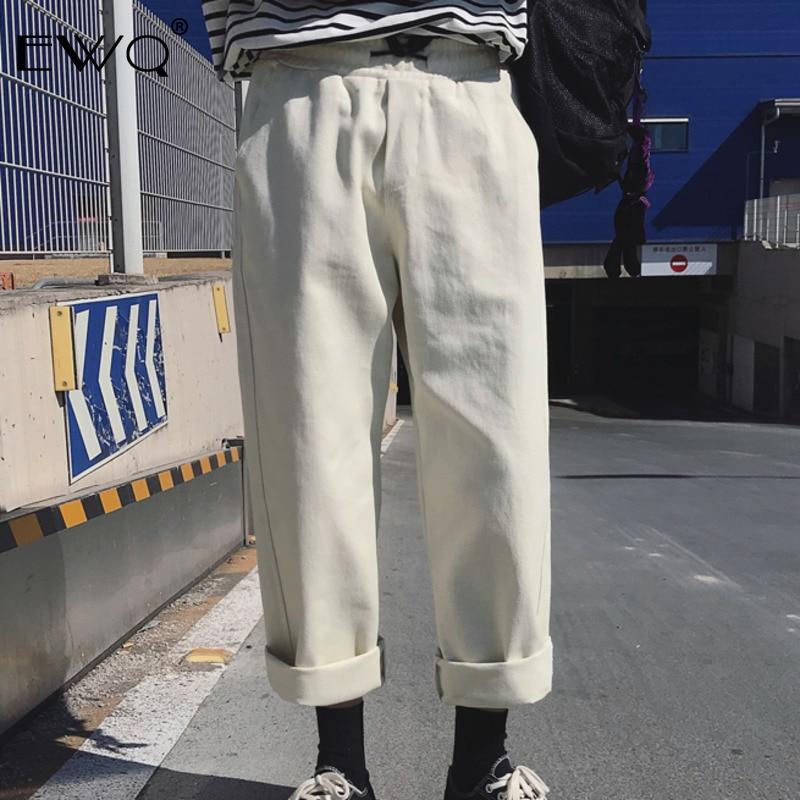 Ewq Männer Vintage Jogger Hosen 2019 Männer Streetwear Männlichen Hip Hop Ankle-länge Hosen Lose Breite Beine Hosen Overalls He047 Hose Mit Weitem Bein Herrenbekleidung & Zubehör