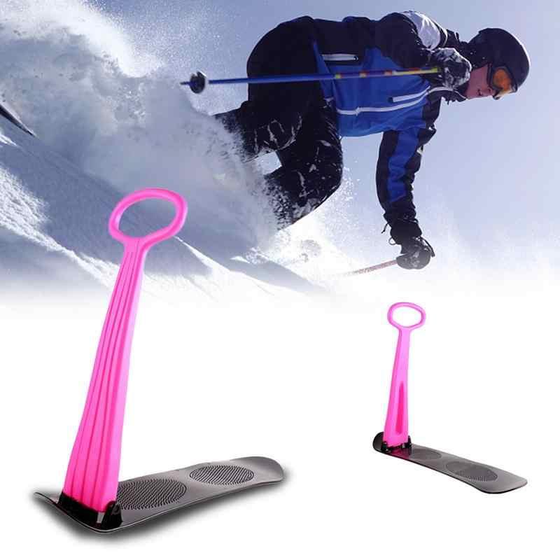 Luar Ruangan Ski Snowboard Veneer Folding Scooter untuk Anak-anak Dewasa Salju Kereta Luncur Pegangan Musim Dingin Bermain Salju Peralatan