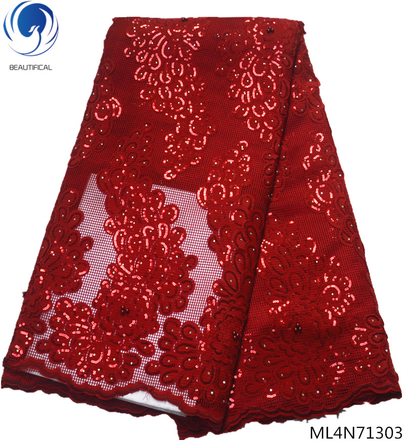 Beautifical french sequins laces fabric african shiny net fabrics 2019 high quality fabrics laces for women 5yards/lot ML44N115Beautifical french sequins laces fabric african shiny net fabrics 2019 high quality fabrics laces for women 5yards/lot ML44N115