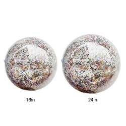 Новый плавающий пляжный мяч с блестками 16in/24in прозрачный воды хорошая игрушка мяч в подарок для детей